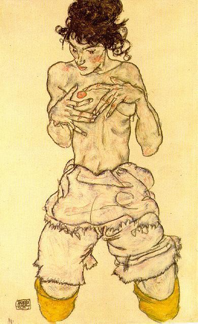 Эгон Шиле. Эротика вискусстве живописи ирисунка. Изображение № 15.