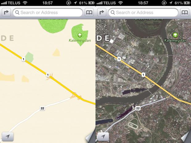 Что мы узнали из новых карт iOS 6 компании Apple. Изображение № 5.