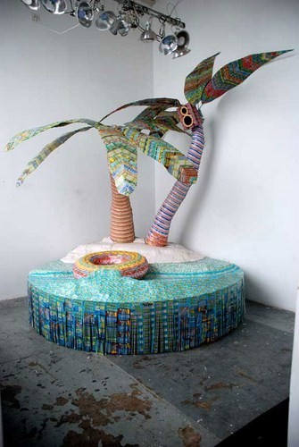 """""""Дом мечты"""", сделанный из 70000 лотерейных билетов. Изображение № 6."""