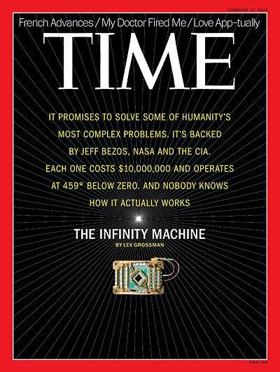 На обложку нового номера Time поместили квантовый компьютер. Изображение № 1.