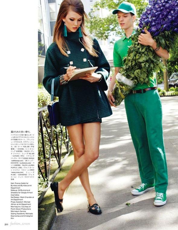 Съёмка: Карли Клосс для японского Vogue. Изображение № 7.