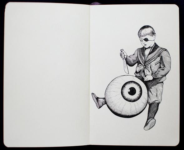 Чёрные ручки, молескин. Изображение №10.