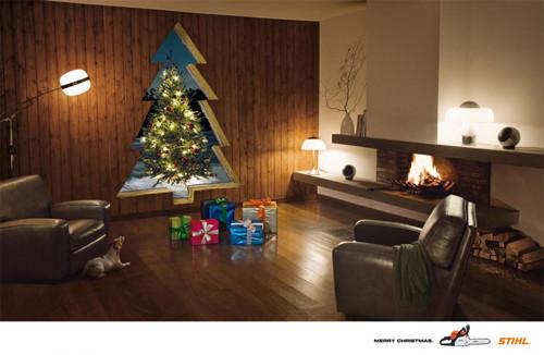Новогоднее - Рождественский креатив в рекламе. Изображение № 32.