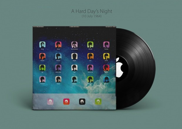 Обложки альбомов The Beatles перерисовали в стиле Apple. Изображение № 2.