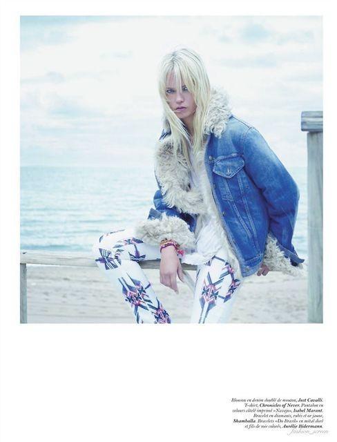 Съёмка: Саша Пивоварова и Наташа Поли для французского Vogue. Изображение № 12.