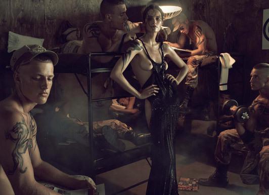 «Make Love NotWar» by Steven Meisel Vogue Italy. Изображение № 7.