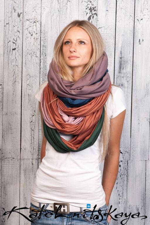 Осенняя коллекция ярких шарфов-снудов. Изображение № 15.