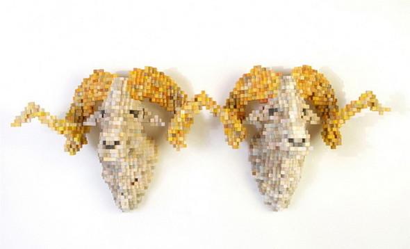 """""""Пиксельные"""" скульптуры Shawn Smith. Изображение № 3."""