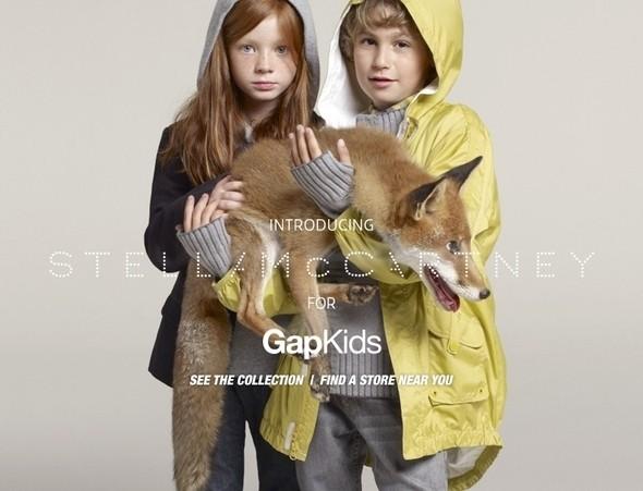 Рекламная кампания Stella McCartney for Gap Kids. Изображение № 1.