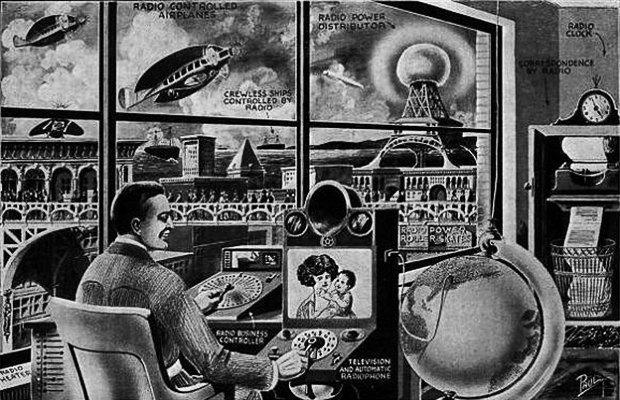 Как в XX веке представляли себе города будущего. Изображение № 7.