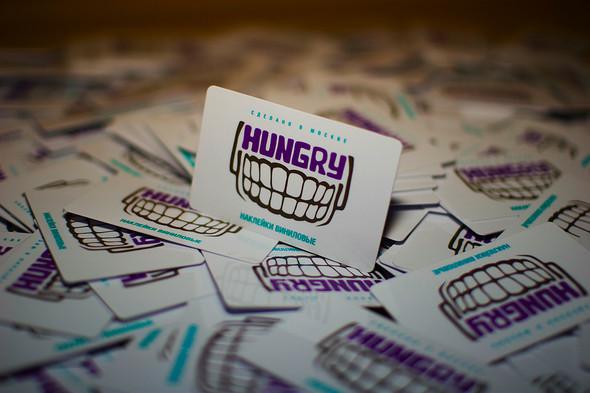 HUNGRY. Виниловые наклейки. Сделано вМоскве. Изображение № 7.
