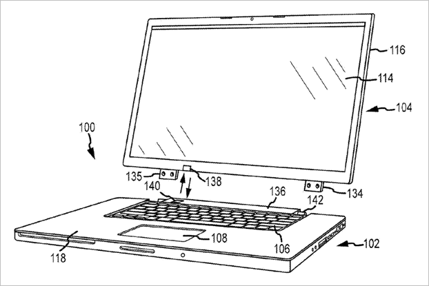 Apple получила патенты нааналог Surface Book иклавиатуру с3DTouch. Изображение № 1.