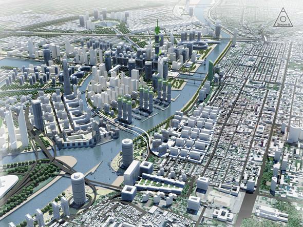Сегодня есть множество примеров использования воды, как места где строят - жилье, бизнес центры, объекты культуры.. Изображение №7.