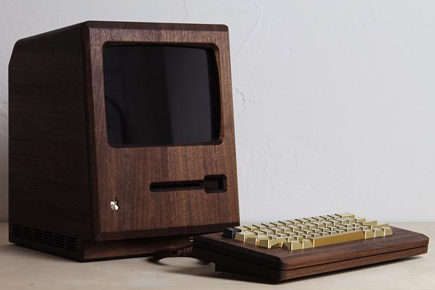 Дизайнер сделал из дерева копию компьютера Apple 1984 года. Изображение № 10.