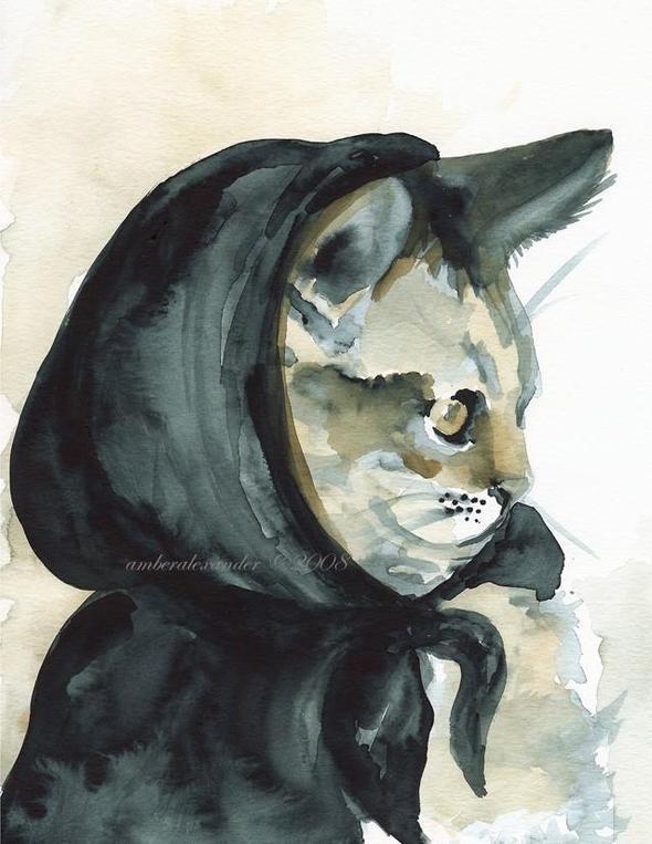 Изображение 16. Amber Alexander - животные, сияющие акварелью.. Изображение № 16.