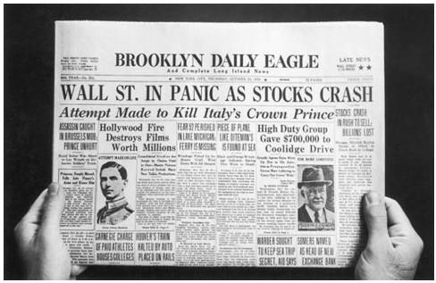 Сообщения  в газете о биржевом крахе 1929 года. Изображение № 17.