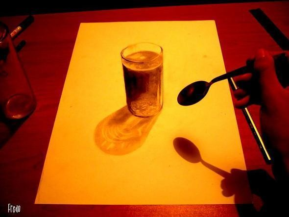 """Изображение 23. Реалистичные 3D рисунки """"в карандаше"""".. Изображение № 23."""