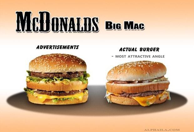 Фотограф сравнил бургеры в рекламе и в реальной жизни. Изображение № 8.