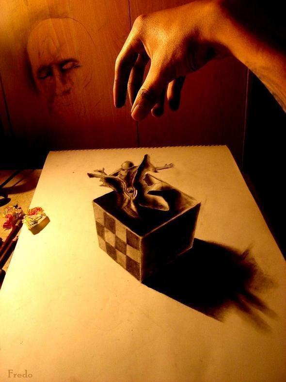 """Изображение 9. Реалистичные 3D рисунки """"в карандаше"""".. Изображение № 9."""