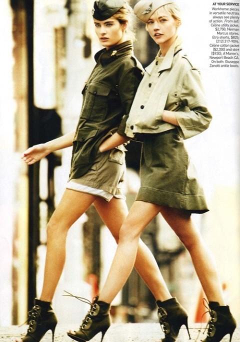 Изображение 11. Фотосессия в Vogue в стиле милитари.. Изображение № 11.