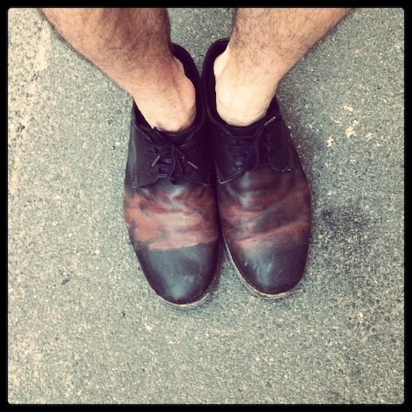 Костя коллекционирует красивую обувь, эти ботинки онкупил влондонском магазине All Saints. Изображение № 50.