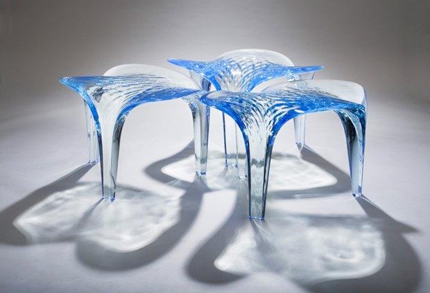 Заха Хадид создала новые предметы мебели для серии Liquid Glacial. Изображение № 9.