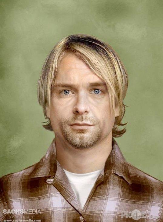 Курт Кобейн, основатель и вокалист группы Nirvana. Умер 8 апреля 1994 года в возрасте 27 лет. На фотографии Кобейну 46 лет. Изображение № 10.