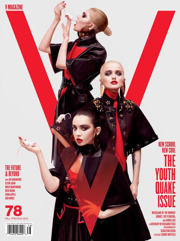 Новые съемки: Vogue, V, Elle и другие. Изображение № 22.