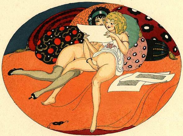 Gerda Wegener, лесбийская эротика в миниатюре. Изображение № 6.