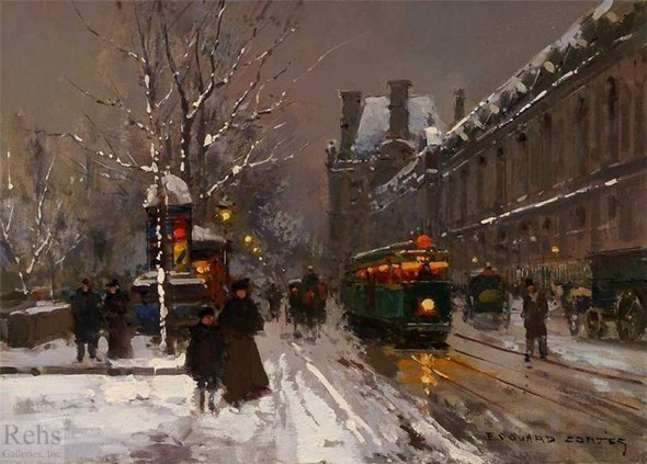 Эдуард Леон Кортес. Перенесёмся в Париж. Изображение № 4.