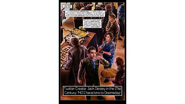 Сооснователь Twitter Джек Дорси стал героем комикса. Изображение № 4.