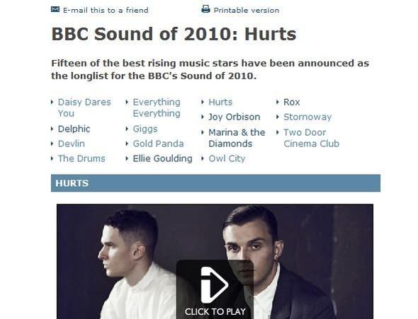 BBC: Лучшие молодые группы. Изображение № 2.