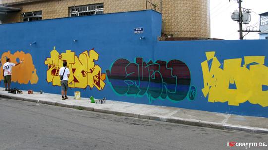 Граффити художники Os Gmeos о творческом пути. Изображение № 10.