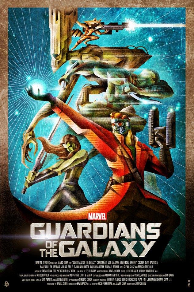 Опубликованы 44 фанатских постера к «Стражам Галактики». Изображение № 34.