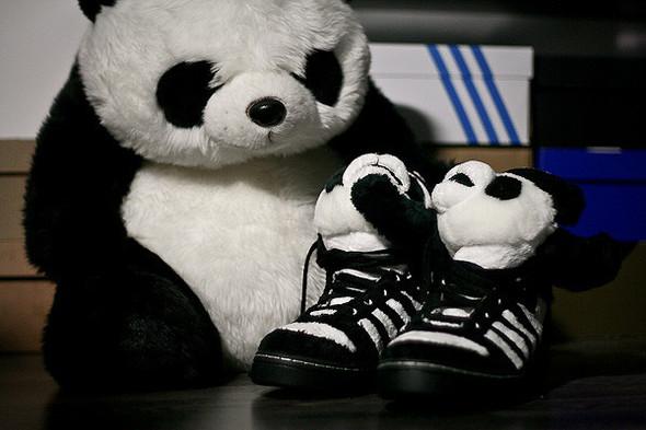 Панда кроссовки adidas Originals. Изображение № 1.