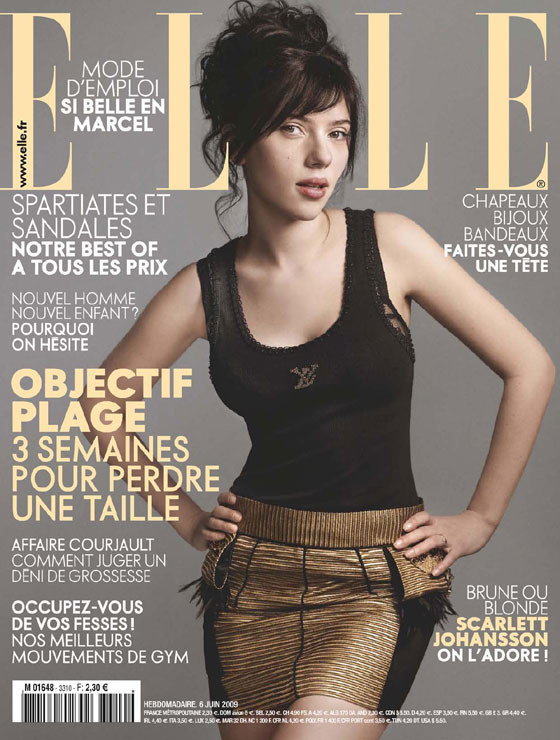 Scarlett Johansson, Elle France June 2009. Изображение № 5.