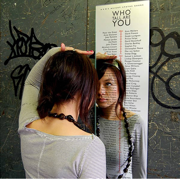 Who Tall Are You? Mirror Кто выше тебя? Зеркало. Изображение № 1.