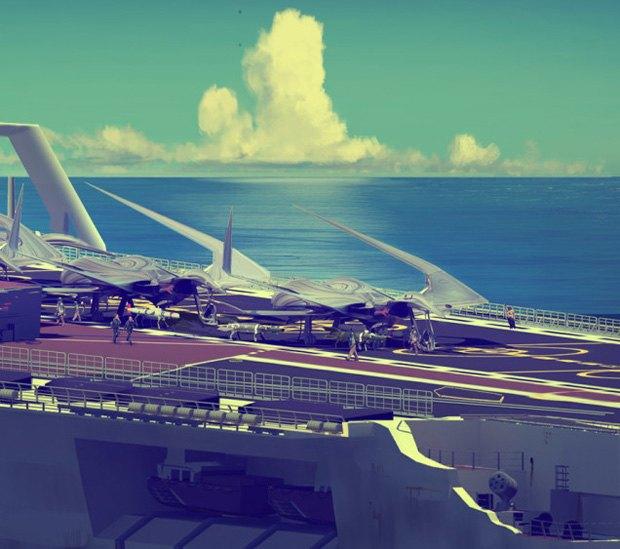 Дизайнер представил биомиметические самолёты. Изображение № 12.