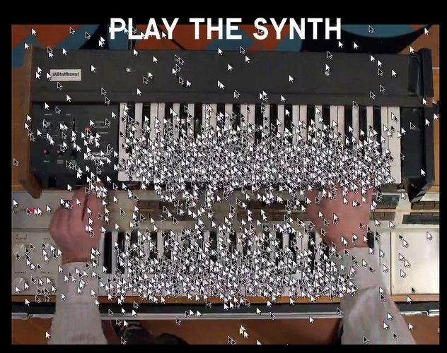 Рой из тысячи курсоров танцует в интерактивном клипе . Изображение № 3.