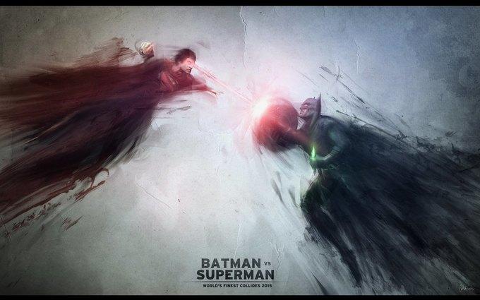 Неофициальный арт фильма «Бэтмен против Супермена» авторства Джона Матисона. Изображение № 1.
