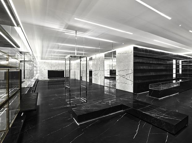 Эди Слиман разработал дизайн бутика Saint Laurent. Изображение № 7.