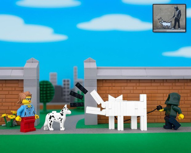 Работы Бэнкси воссоздали в конструкторе LEGO. Изображение № 13.
