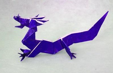 Новогодние драконы в технике оригами. Изображение № 7.