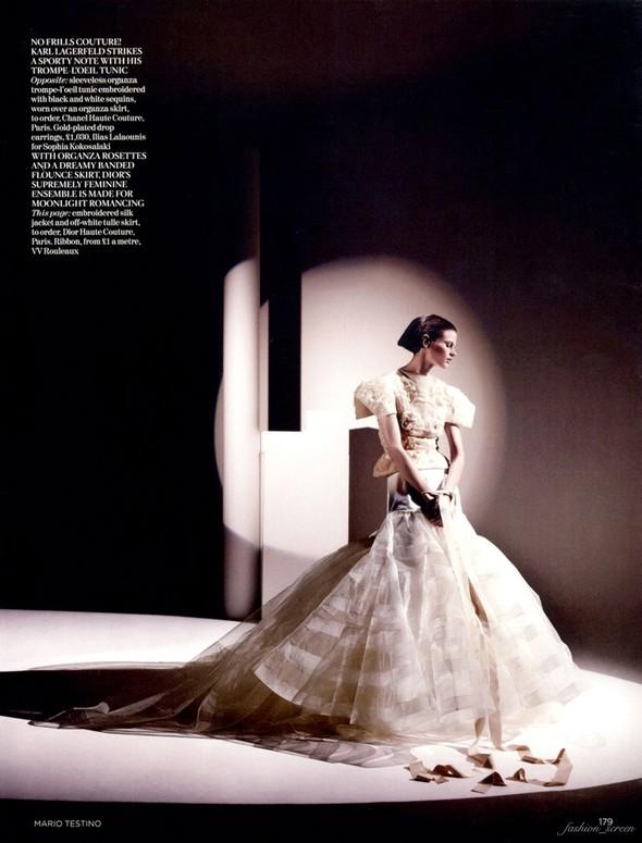 Съемка: Саския де Брау для британского Vogue. Изображение № 5.