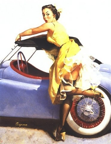 Изображение 17. Pin up girls love cars, airplans and motorcycles.. Изображение № 17.