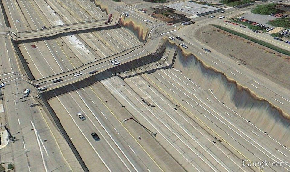 32 фотографии из Google Earth, противоречащие здравому смыслу. Изображение №20.