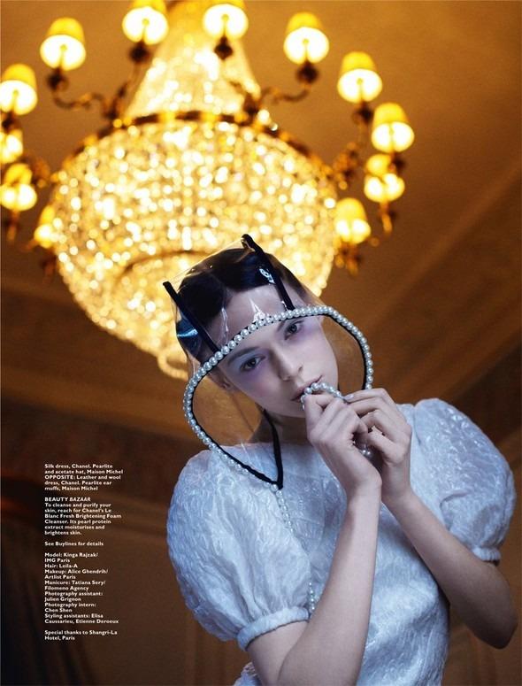 Kinga Rajzak by John-Paul Pietrus in Chanel for Harpers Bazaar. Изображение № 11.