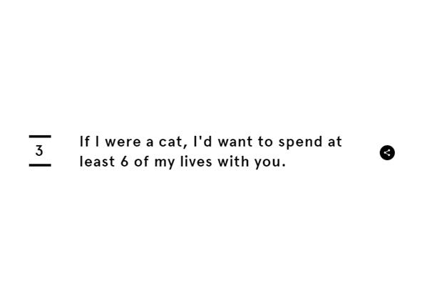 «Будь я котом, то хотел бы потратить с тобой не меньше 6 жизней». Изображение № 6.
