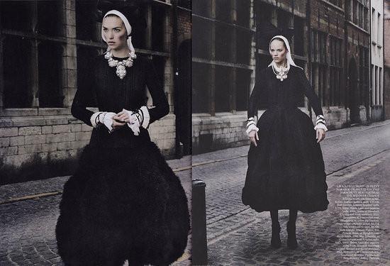 Съёмка: Аризона Мьюз и Фрея Беха Эриксен для британского Vogue. Изображение № 5.