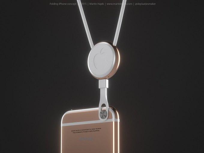 Дизайнер создал концепт раскладного iPhone 6 . Изображение № 1.